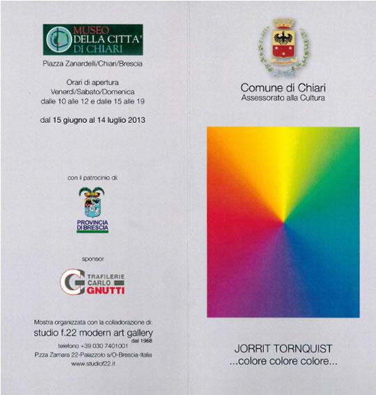 Mostra di Jorrit Tornquist a Chiari