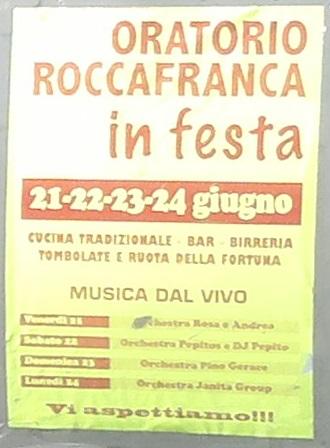 Oratorio Roccafranca in Festa 2013