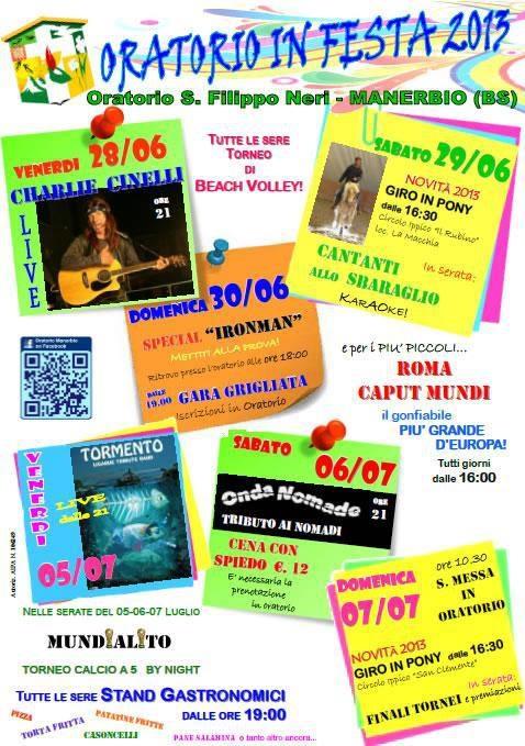 Oratorio in festa 2013 a Manerbio