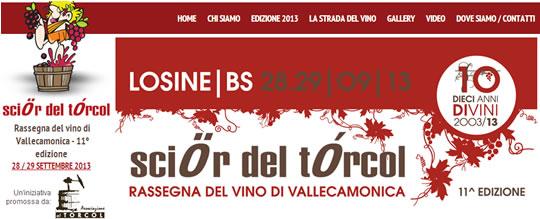 Scior del Torcol Rassegna del Vino di Vallecamonica a Losine