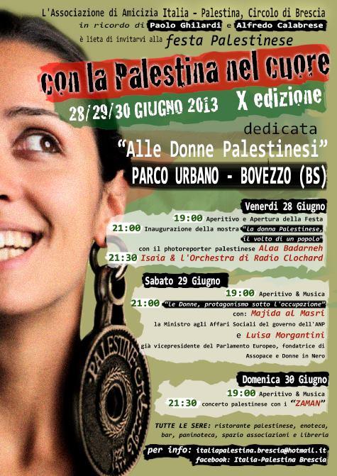 X Festa Palestinese Con la Palestina nel cuore 2013 BOVEZZO