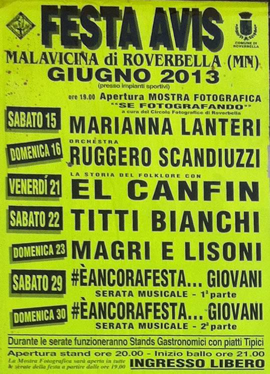 festa avis a Malavicina di Roverbella