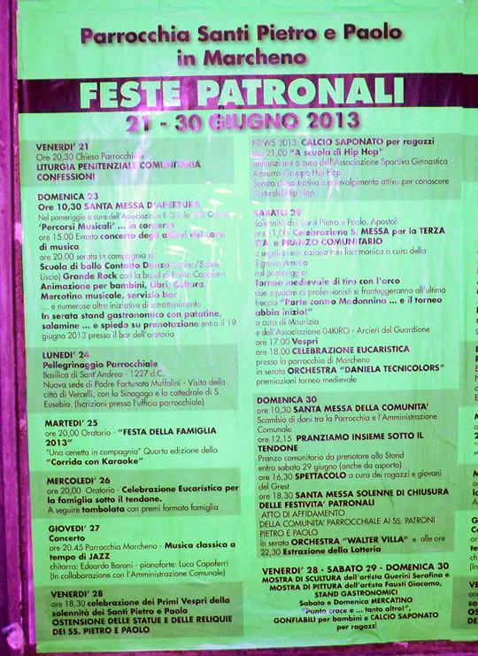 feste patronali 2013 a Marcheno