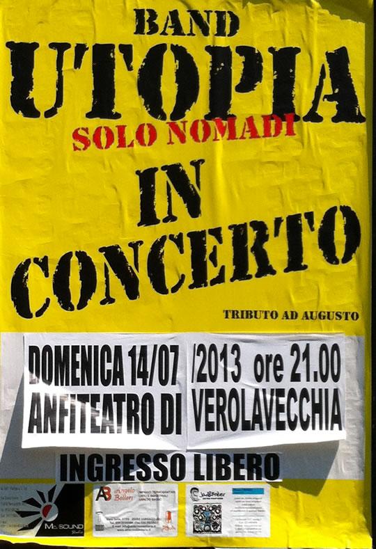 utopia solo nomadi in concerto