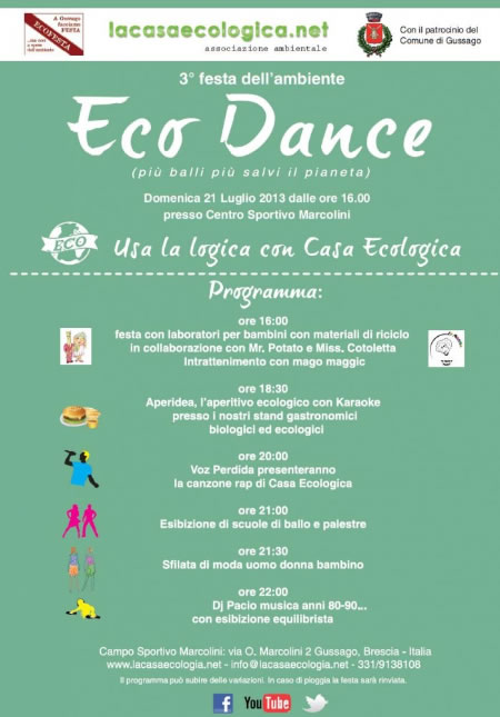 3 Festa dell' Ambiente Eco Dance a Gussago