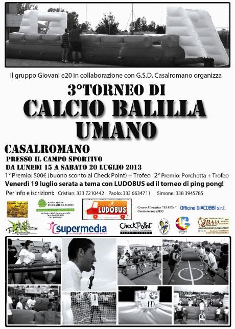 3 Torneo Calcio Balilla Umano a Casalromano