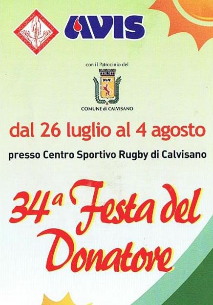 34 Festa del Donatore a Calvisano