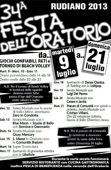 34 Festa dell' Oratorio a Rudiano