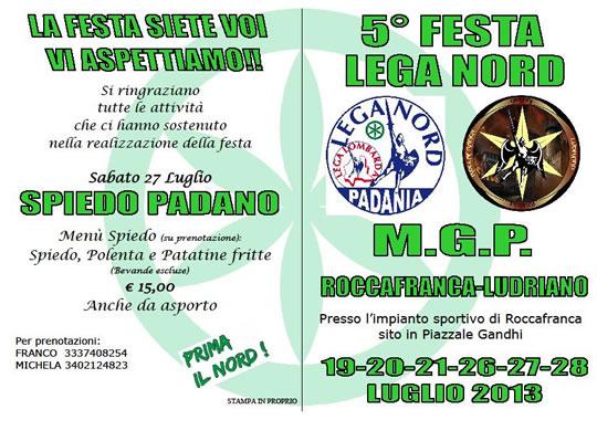 5 Festa Lega Nord a Roccafranca