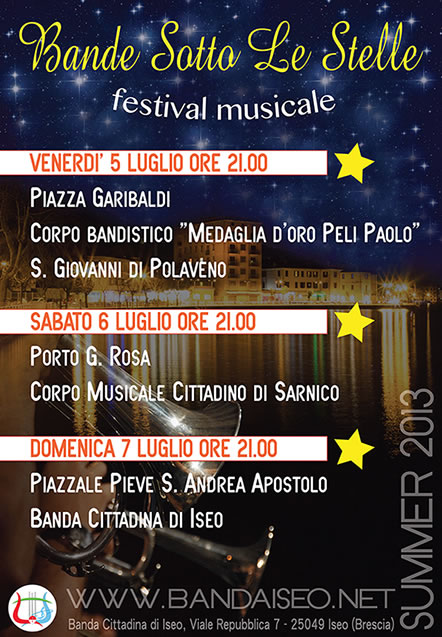 Bande Sotto le Stelle a Iseo