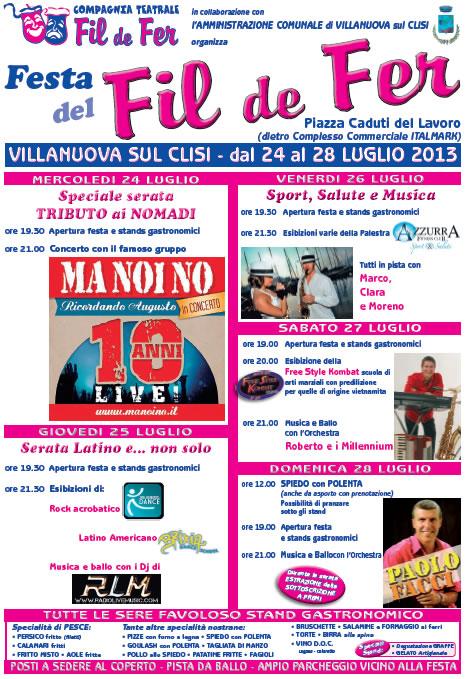 Festa del Fil de Fer a Villanuova Sul Clisi