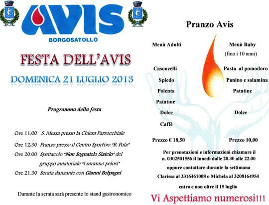 Festa dell' Avis a Borgosatollo
