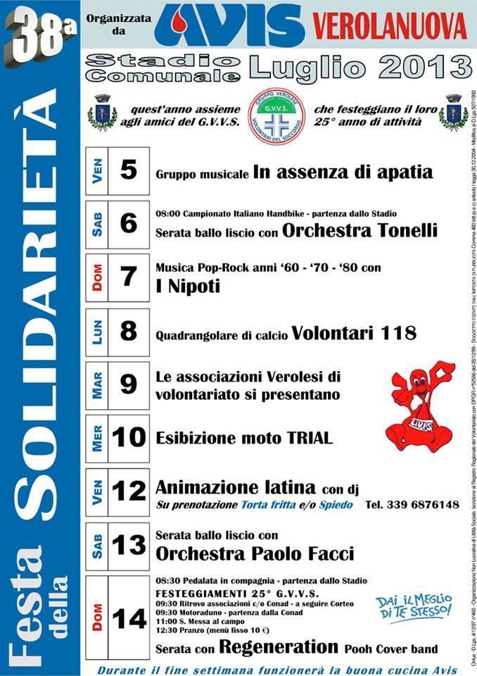 38° Festa della Solidarietà Verolanuova