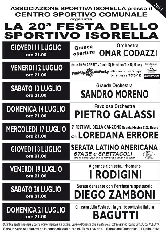 Festa dello sportivo 2013 ISORELLA