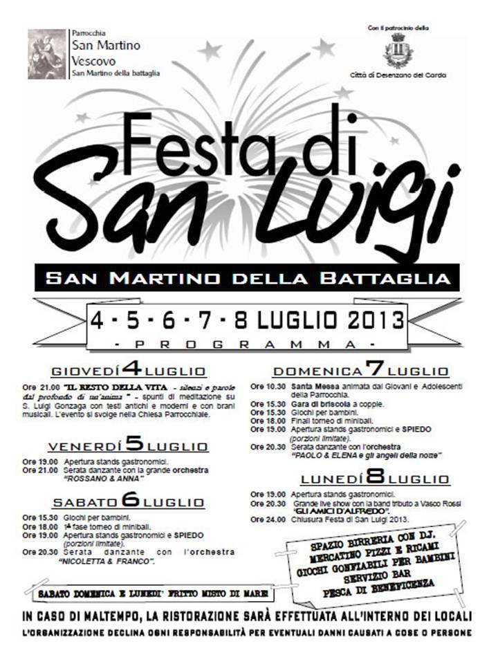 Festa di San Luigi a San Martino dB