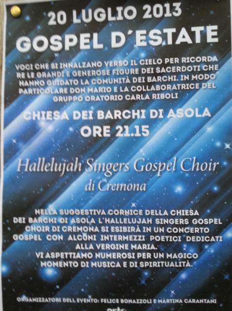 Gospel d' Estate a Asola