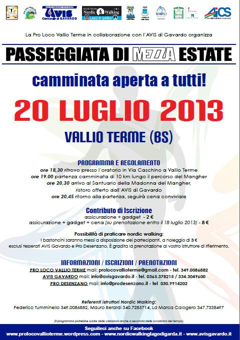 Passeggiata di Mezza Estate a Vallio Terme