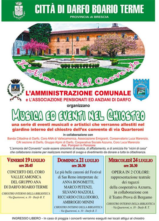 armonia del convento a Darfo Boario Terme