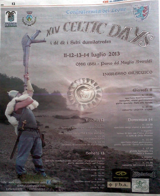 celtic days a Ome 2013