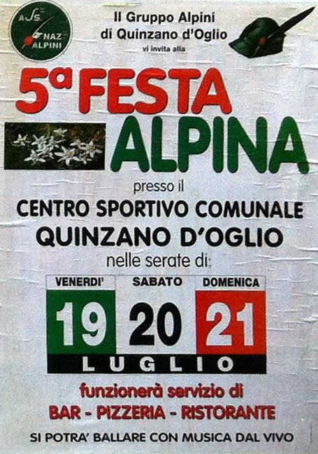 festa alpina a Quinzano d Oglio