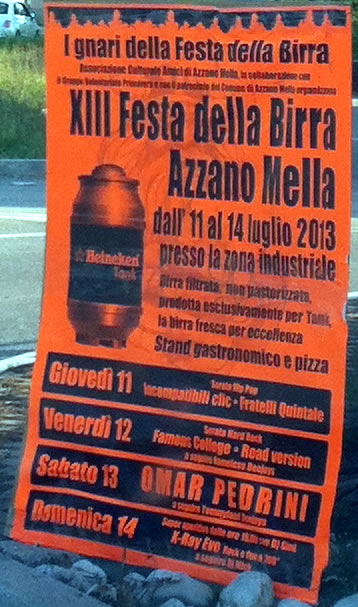 festa della birra ad Azzano Mella