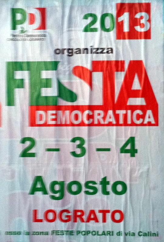festa democratica a Lograto