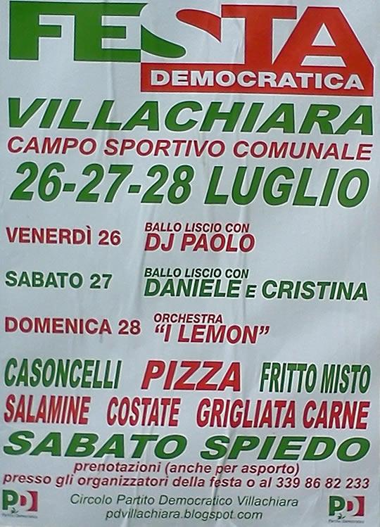 festa democratica a Villachiara 2013