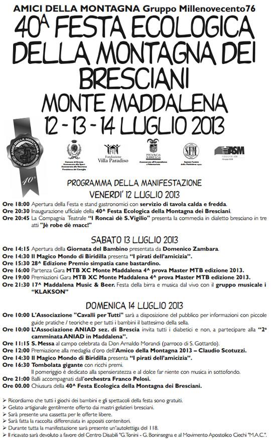festa ecologica della montagna a Brescia