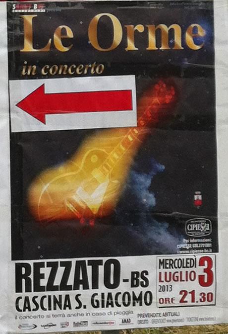le orme in concerto a Rezzato