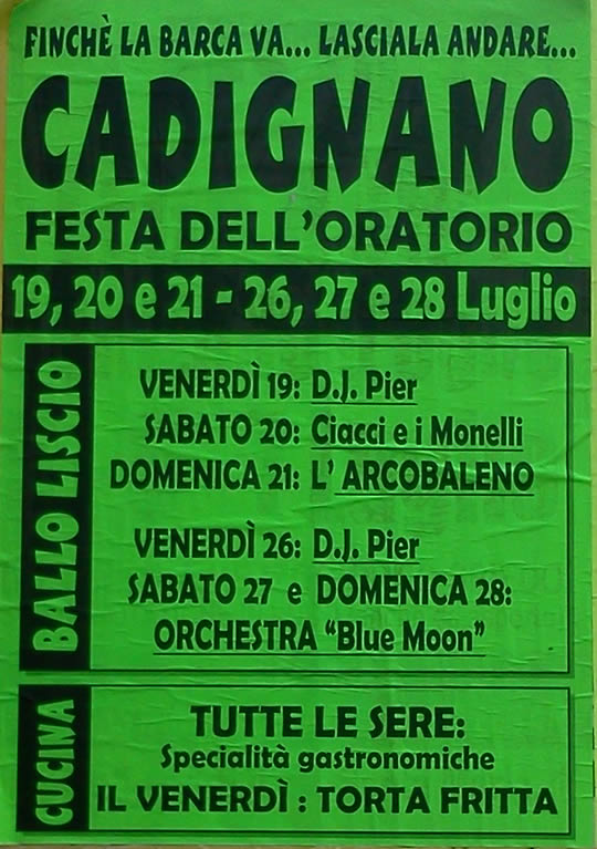 oratorio in festa a cadignano