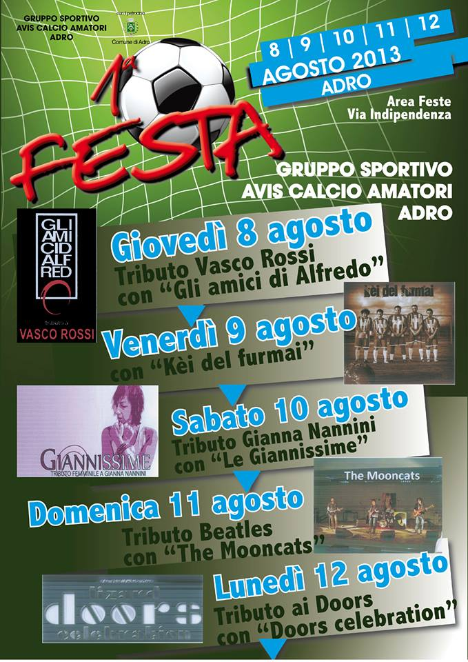 1° Festa Avis Calcio a Adro
