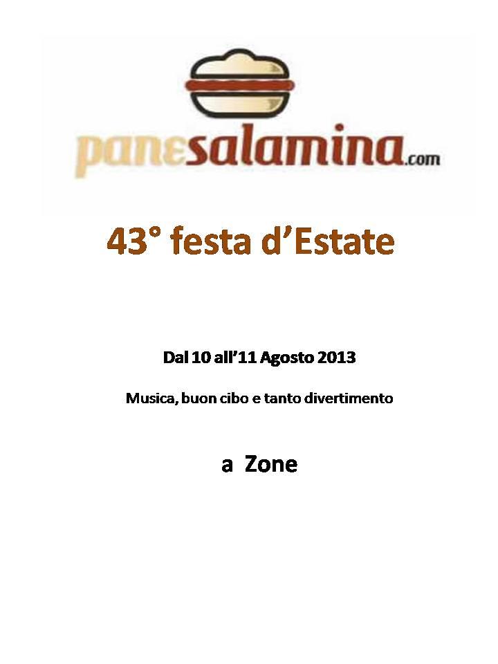 43° festa d'Estate a Zone
