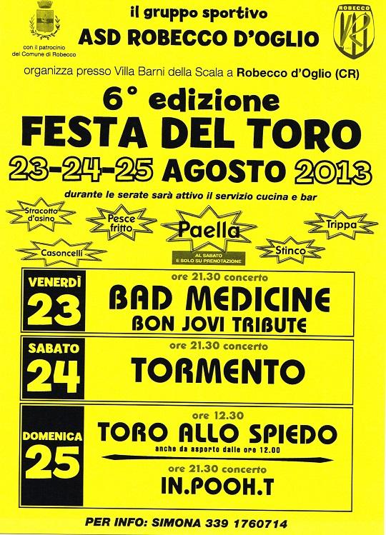 6 Festa del toro Robecco d'oglio 2013