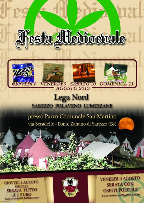Festa Medievale Lega Nord a Sarezzo