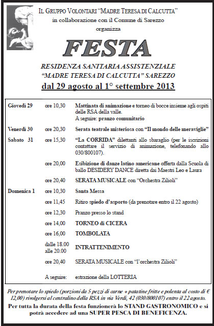 Festa RSA a Sarezzo