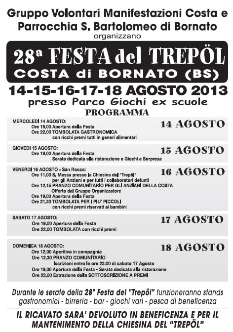 Festa del Trepol a Bornato