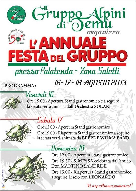 Festa del gruppo Alpini di Temù 2013