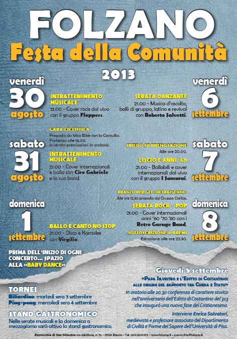 Festa della Comunita a Folzano