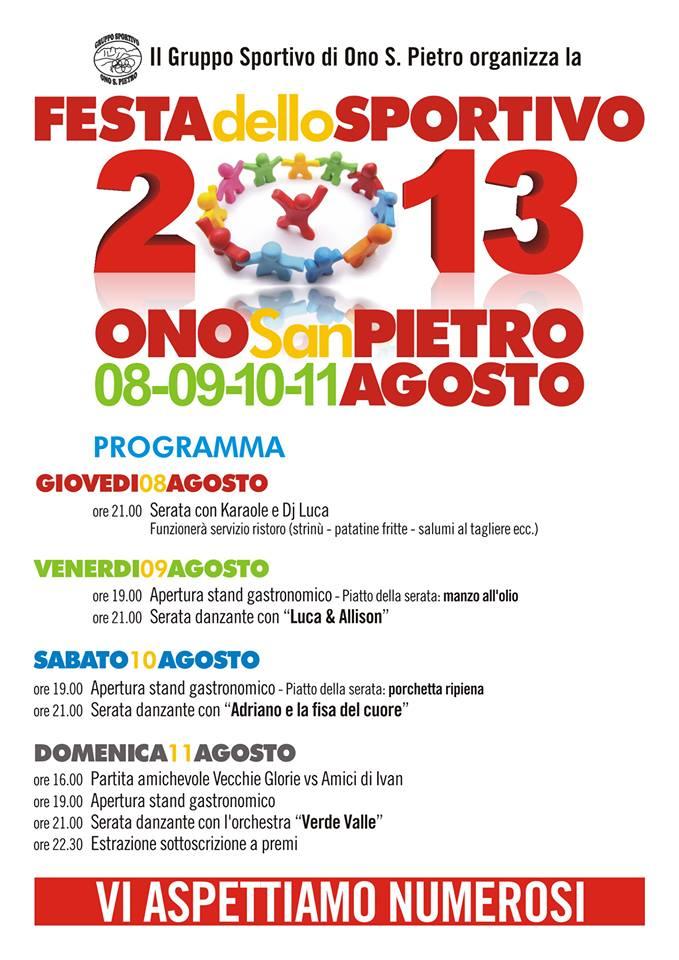 Festa dello Sportivo Ono San Pietro