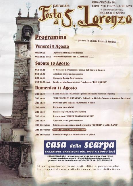 Festa di S. Lorenzo a Sonico