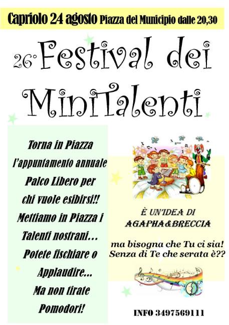 Festival dei Minitalenti a Capriolo