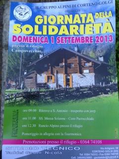 Giornata della solidarietà 2013 Corteno Golgi