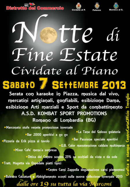 Notte di Fine Estate a Cividate al Piano (BG)