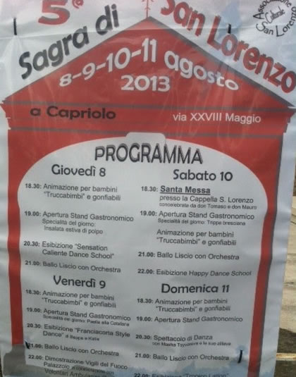 Sagra di San Lorenzo a Capriolo