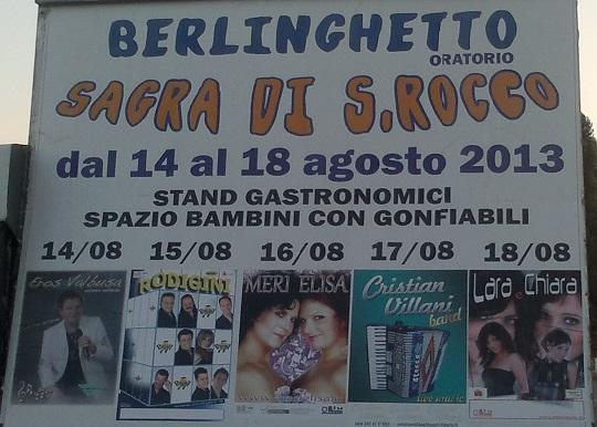 Sagra di san Rocco 2013 Berlinghetto