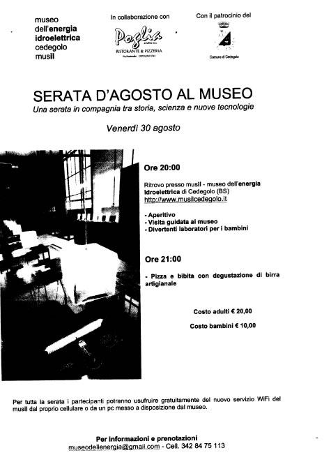 Serata d' Agosto al Museo di Cedegolo