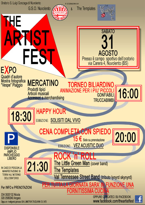 The Artist Fest a Nuvolento