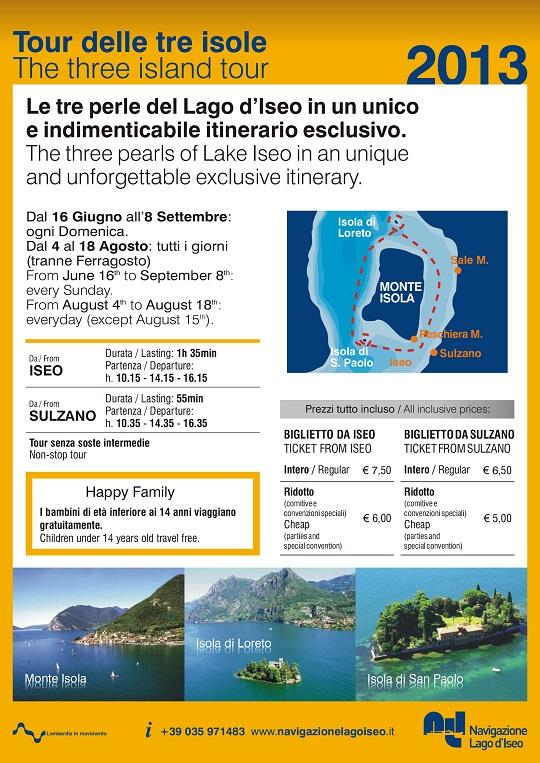 Tour delle tre isole 2013 Monte isola