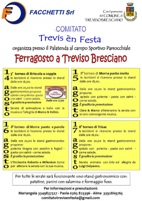 Trevis en Festa a Treviso Bresciano