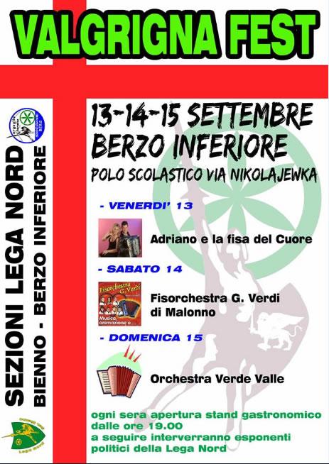 Valgrigna Fest a Berzo Inferiore